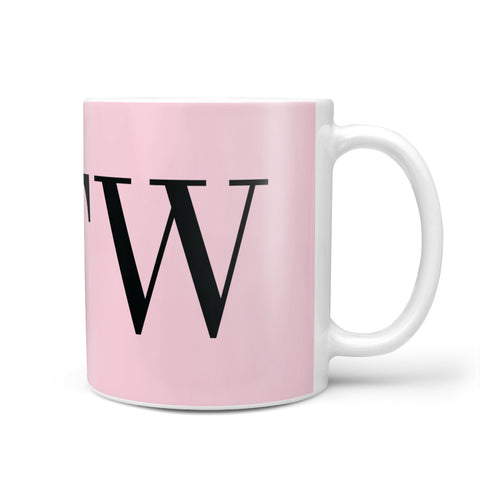 Personalised Black & Pink Side Initials Mug
