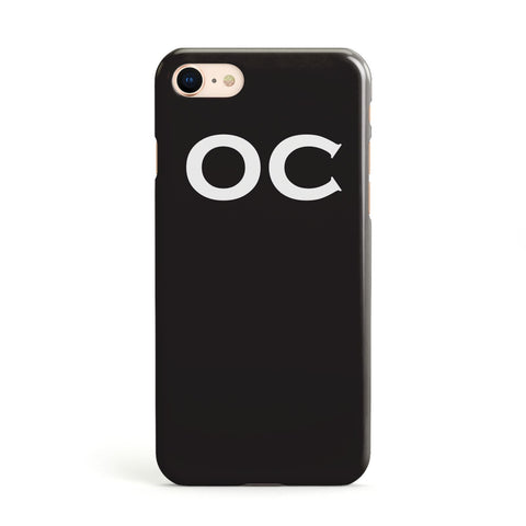 Personalised Black with Initials Apple iPhone Case