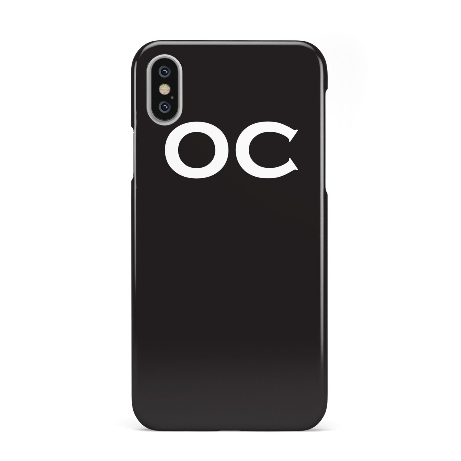 iphone xs case initials