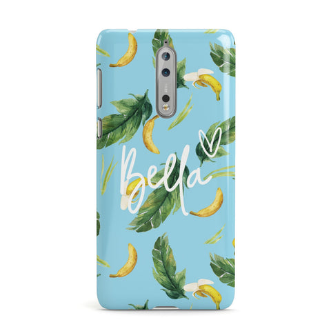 Personalised Blue Banana Tropical Nokia Case