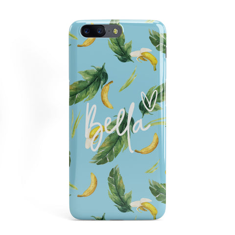 Personalised Blue Banana Tropical OnePlus Case
