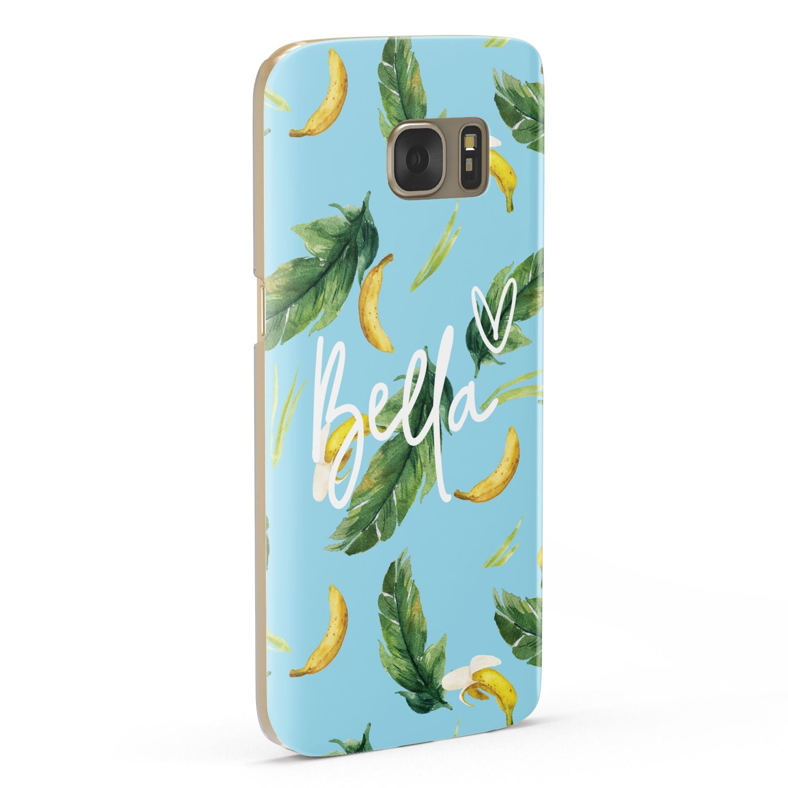 Personalised Blue Banana Tropical Samsung Galaxy Case Fourty Five Degrees