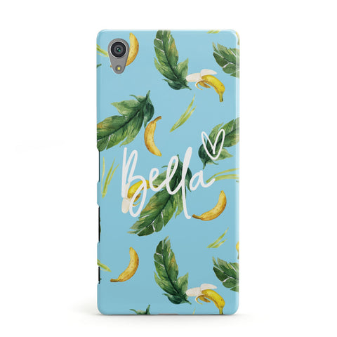 Personalised Blue Banana Tropical Sony Case