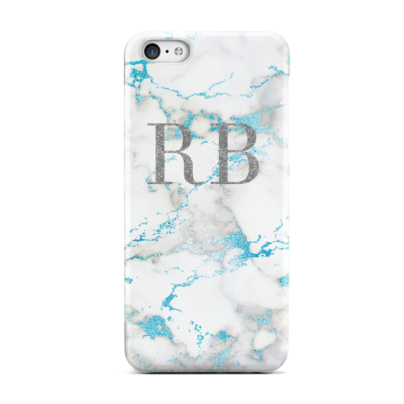 Personalised Blue Marble Initials Apple iPhone 5c Case
