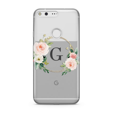 Personalised Blush Floral Wreath Google Case