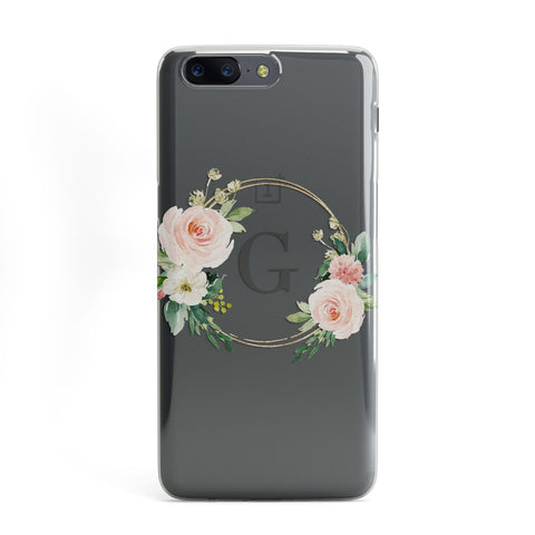 Personalised Blush Floral Wreath OnePlus Case
