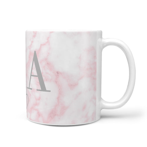 Personalised Blush Marble Initials Mug