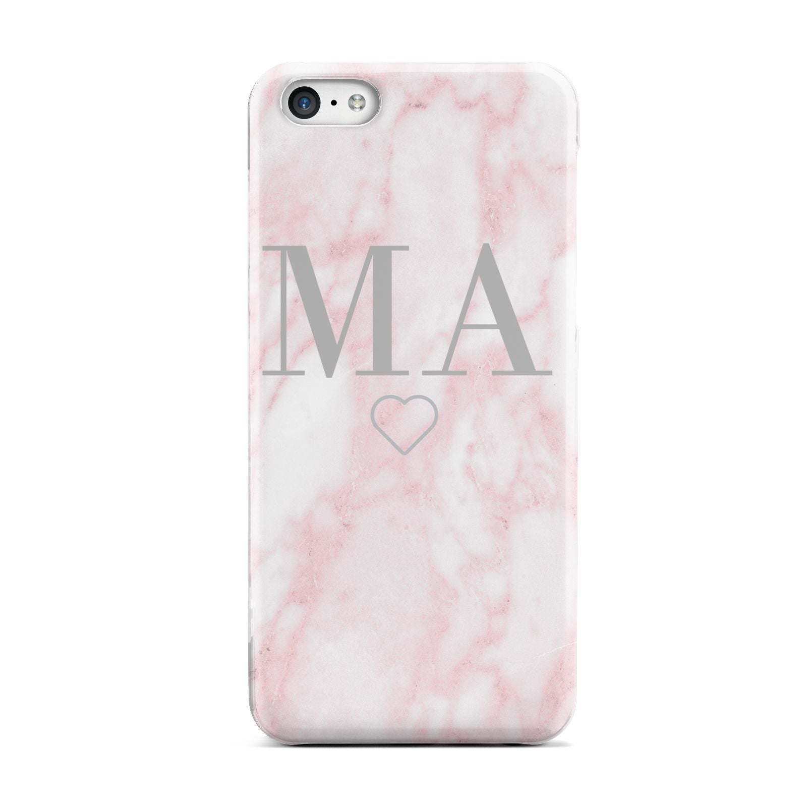 Personalised Blush Marble Initials Apple iPhone 5c Case