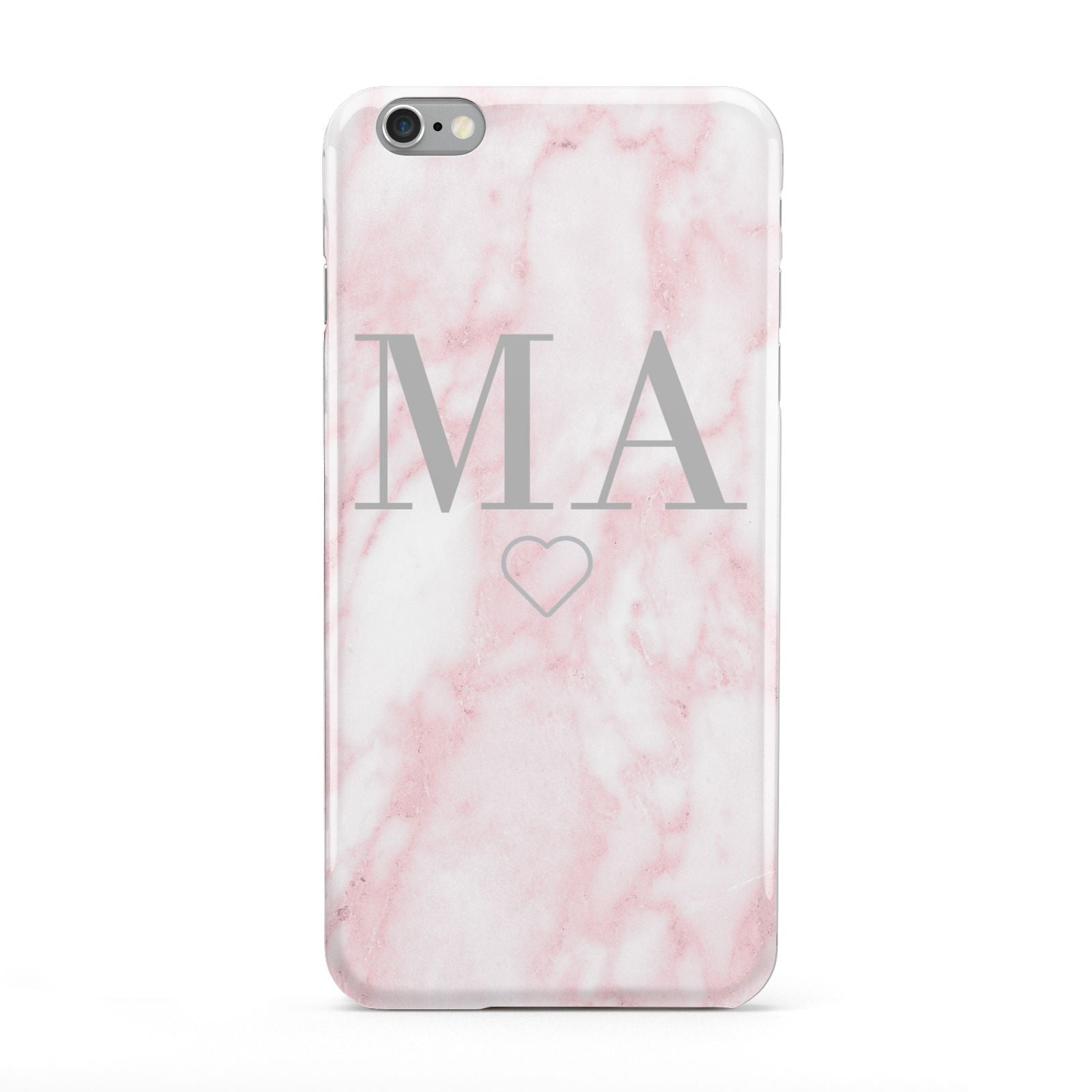 Personalised Blush Marble Initials Apple iPhone 6 Plus Case