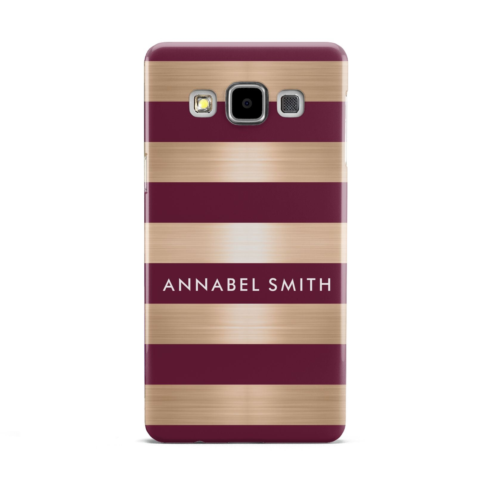 Personalised Burgundy Gold Name Initials Samsung Galaxy A5 Case
