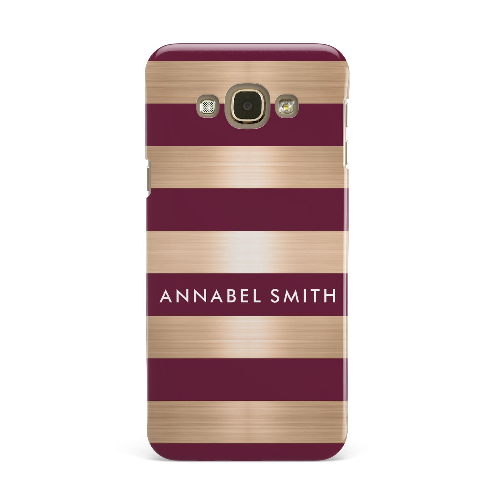 Personalised Burgundy Gold Name Initials Samsung Galaxy A8 Case