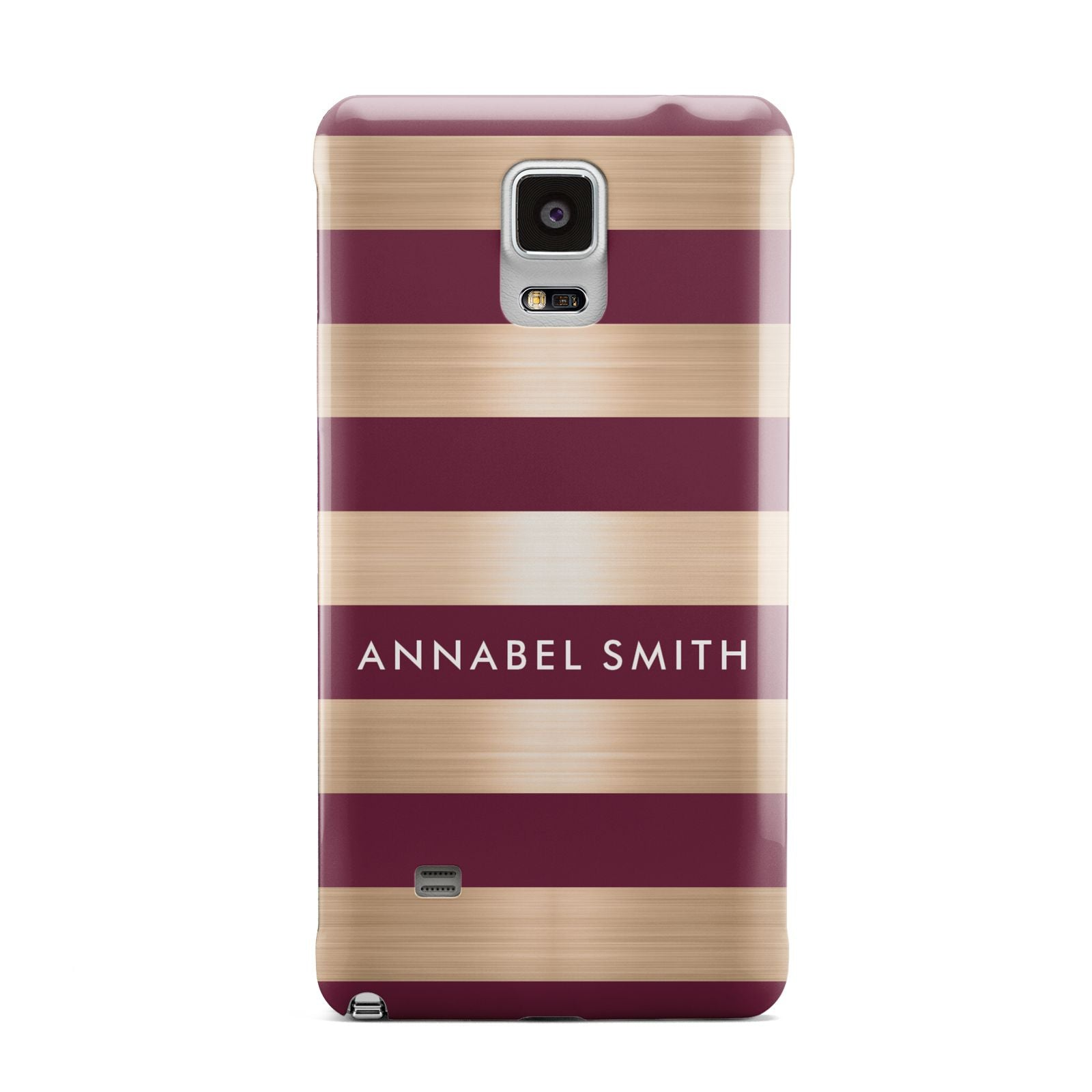 Personalised Burgundy Gold Name Initials Samsung Galaxy Note 4 Case