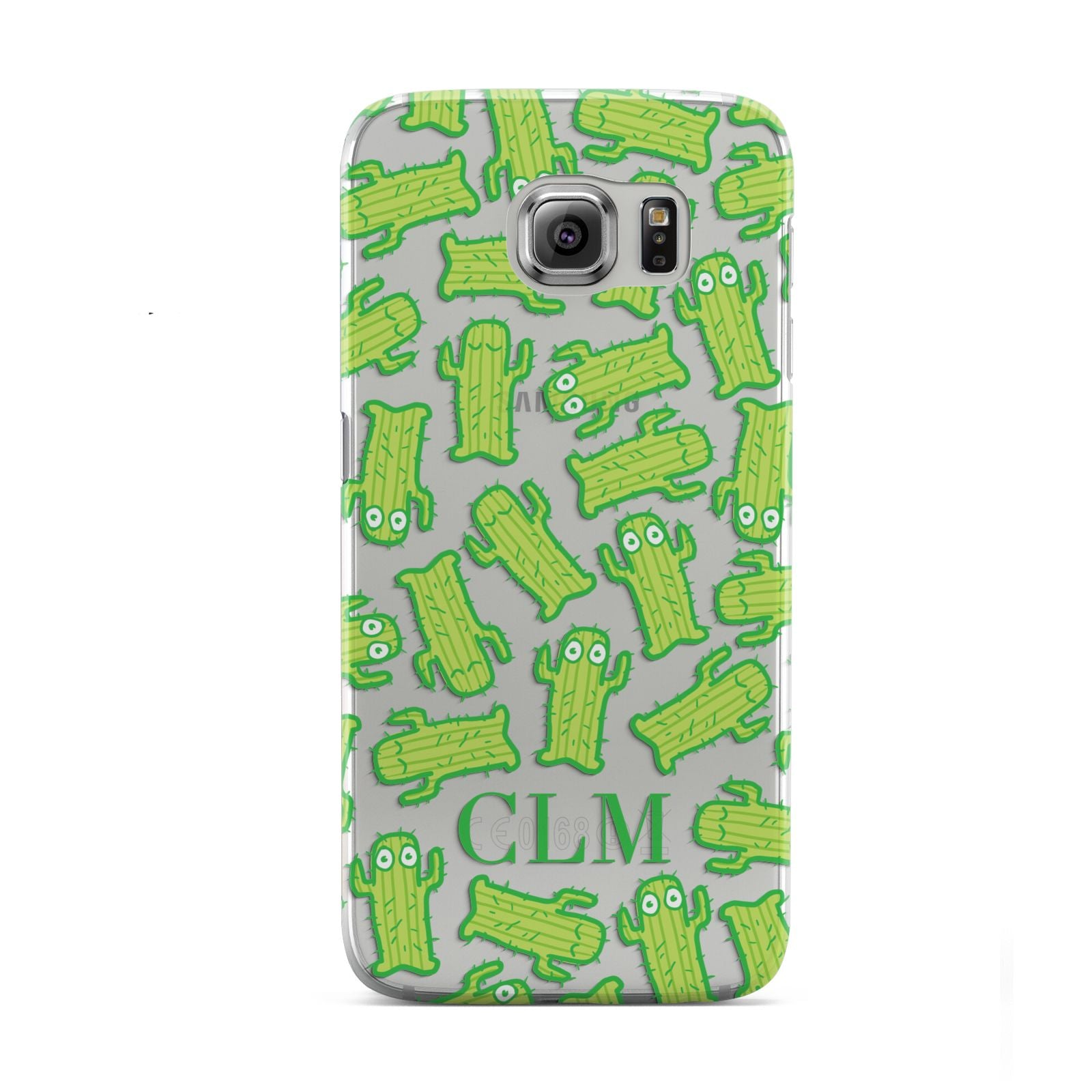 Personalised Cactus Initials Samsung Galaxy S6 Case