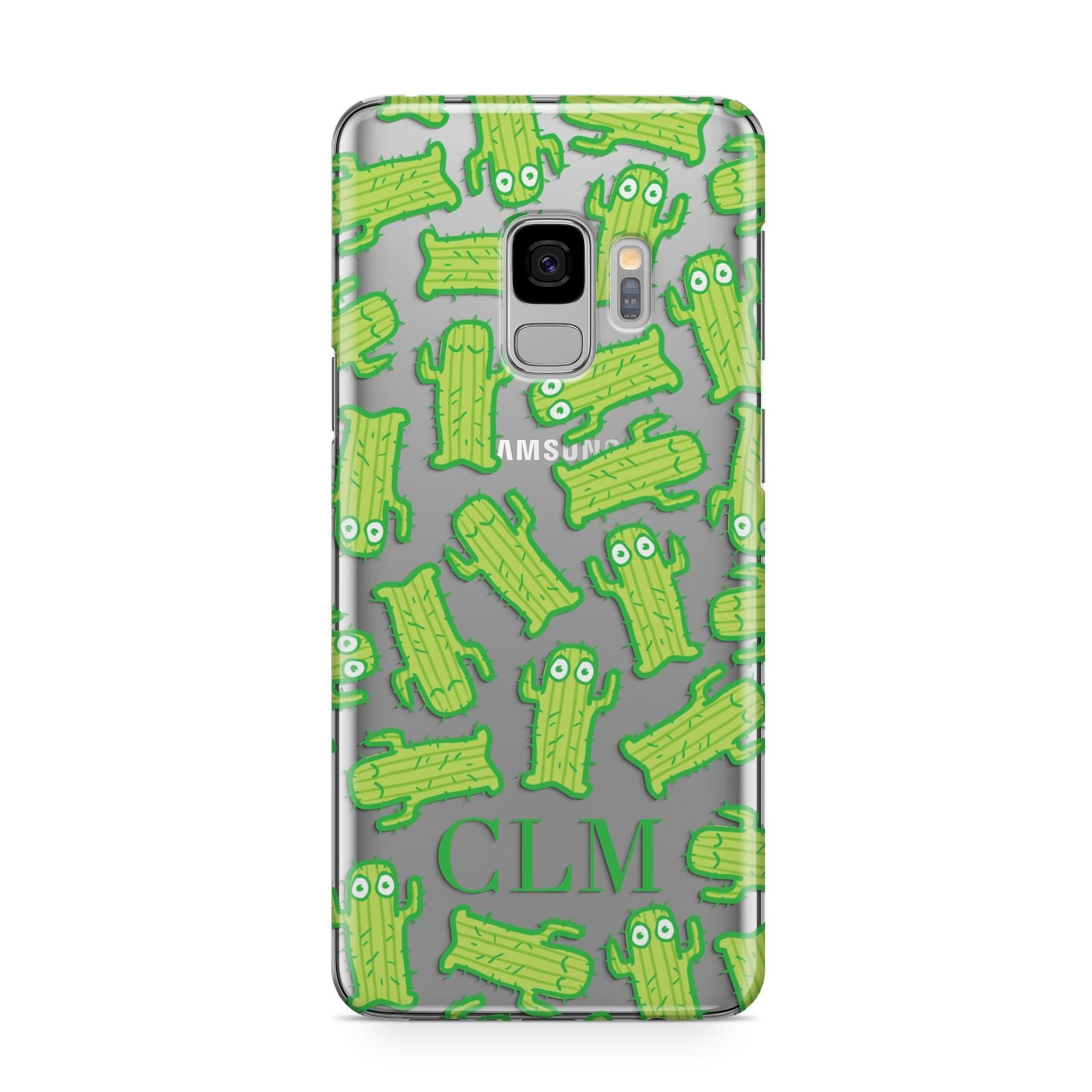 Personalised Cactus Initials Samsung Galaxy S9 Case