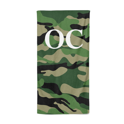 Personalised Camouflage Beach Towel