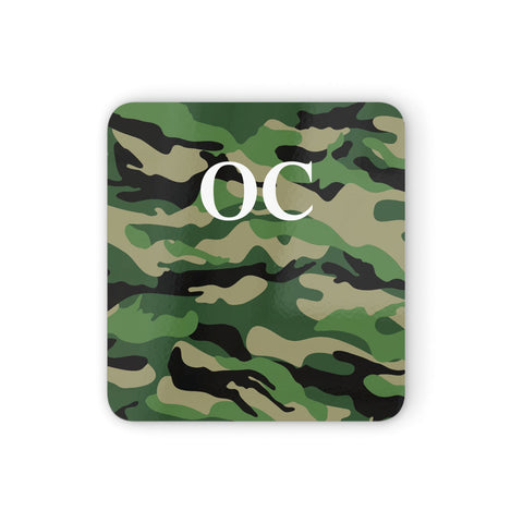 Personalised Camouflage Coasters set of 4