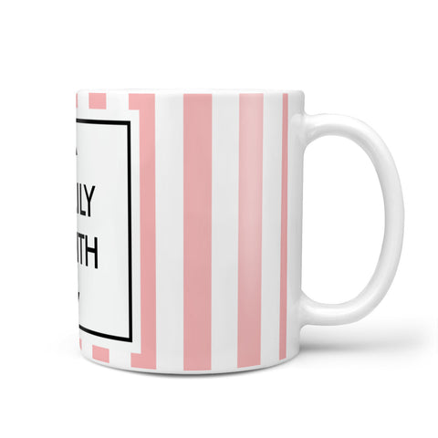 Personalised Candy Striped Name Initials Mug
