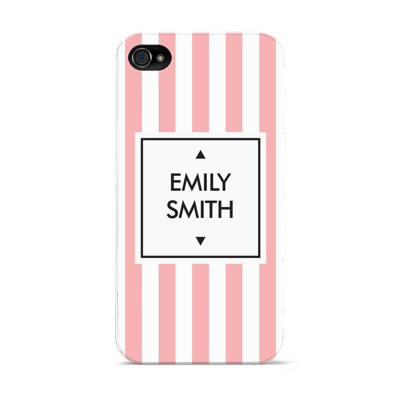 Personalised Candy Striped Name Initials Apple iPhone 4s Case