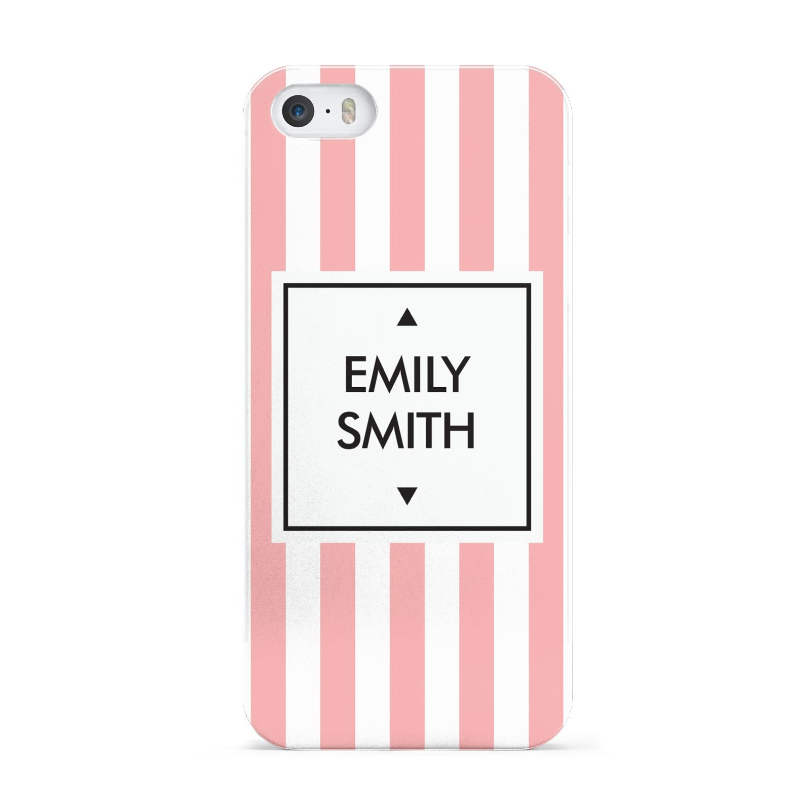 Personalised Candy Striped Name Initials Apple iPhone 5 Case