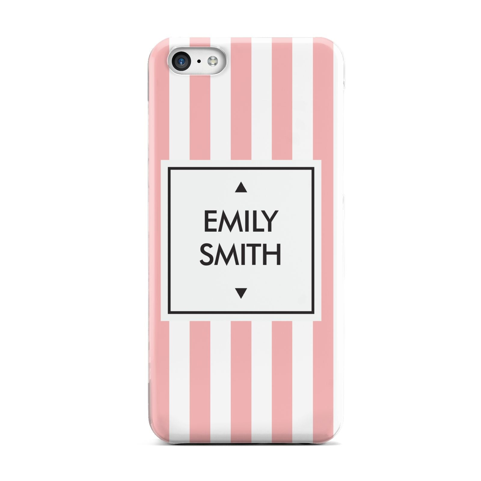 Personalised Candy Striped Name Initials Apple iPhone 5c Case