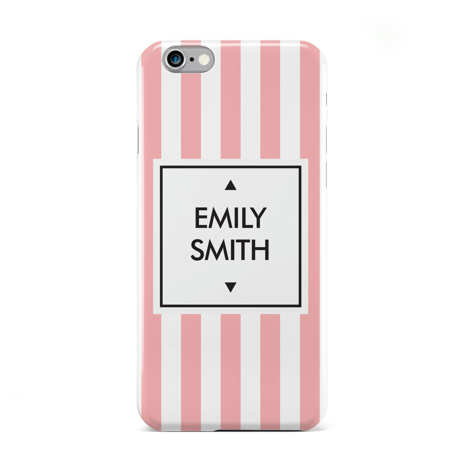 Personalised Candy Striped Name Initials Apple iPhone 6 Case