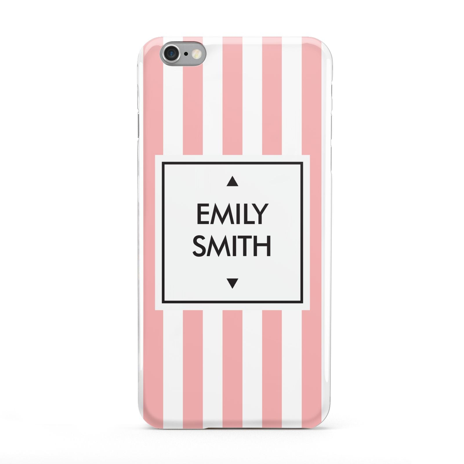 Personalised Candy Striped Name Initials Apple iPhone 6 Plus Case