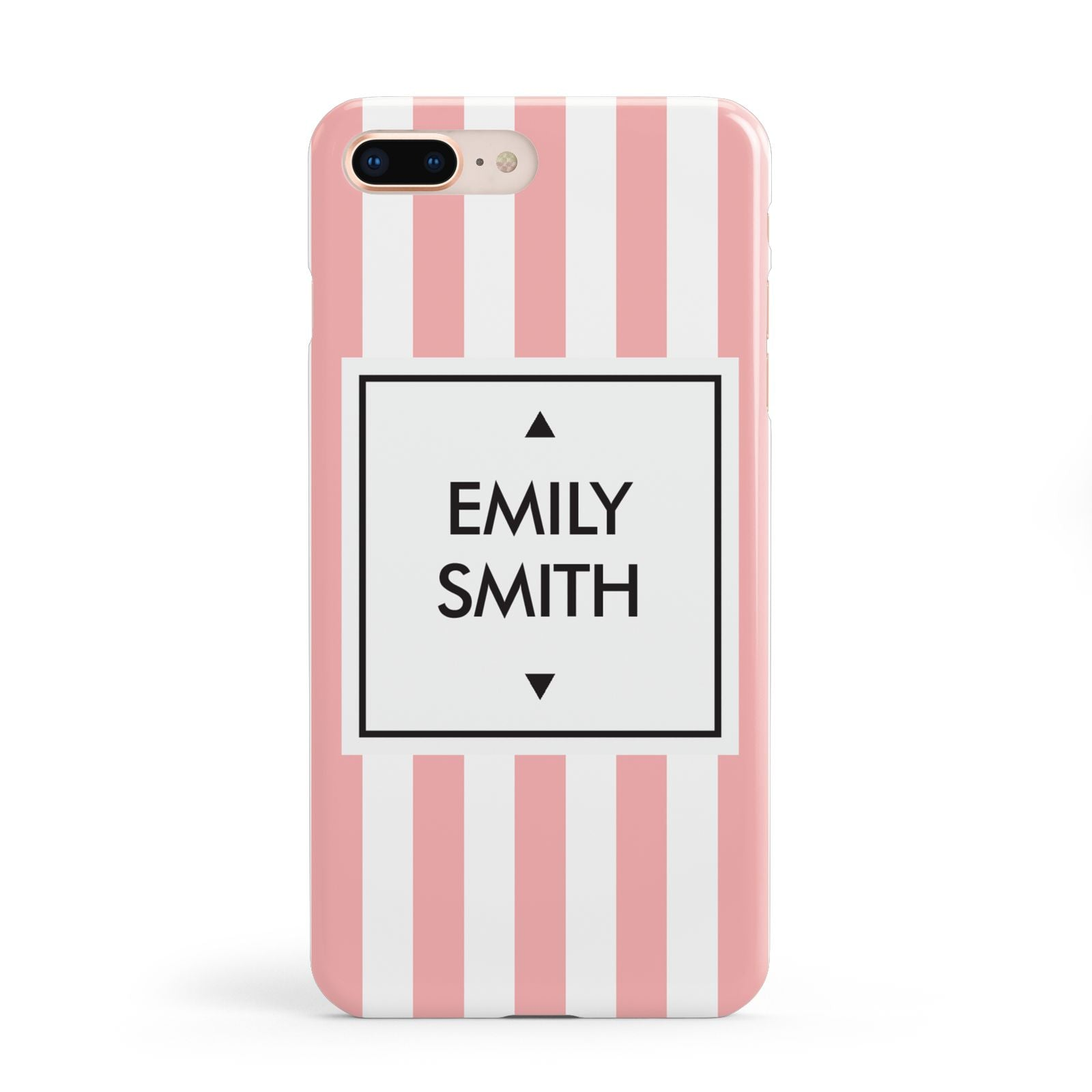 Personalised Candy Striped Name Initials Apple iPhone 8 Plus Case