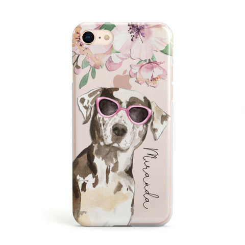 Personalised Catahoula Leopard Dog iPhone Case
