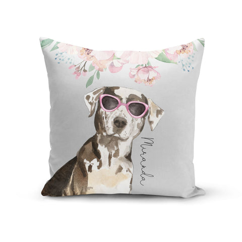Personalised Catahoula Leopard Dog Cushion
