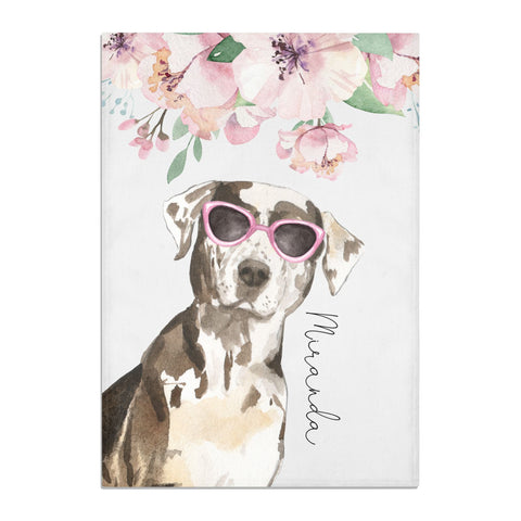 Personalised Catahoula Leopard Dog Tea Towel