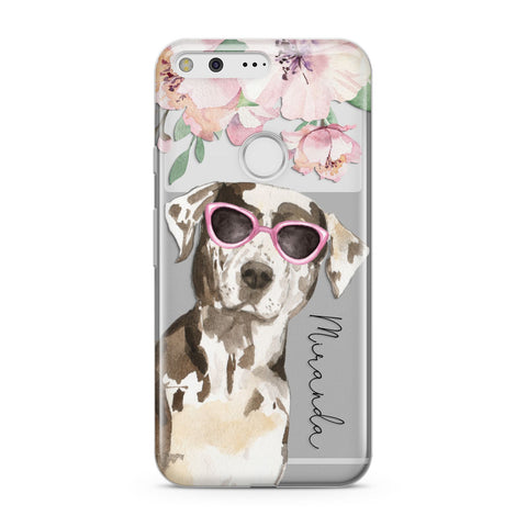 Personalised Catahoula Leopard Dog Google Case