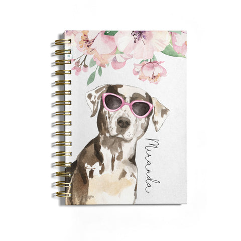 Personalised Catahoula Leopard Dog Notebook