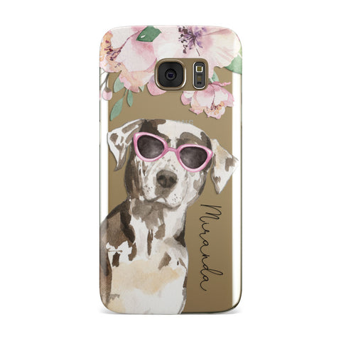Personalised Catahoula Leopard Dog Samsung Galaxy Case