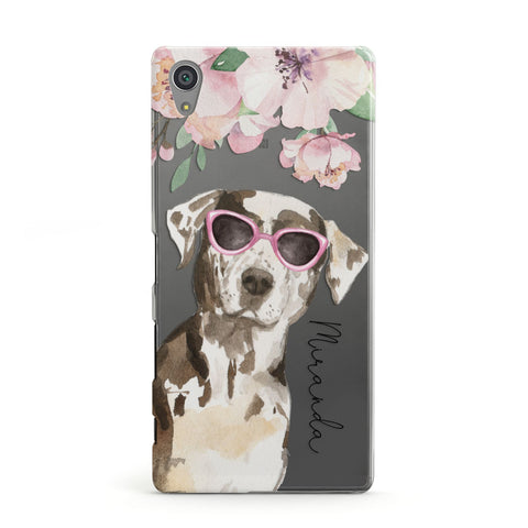 Personalised Catahoula Leopard Dog Sony Case