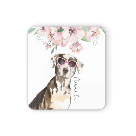 Personalised Catahoula Leopard Dog Coasters set of 4