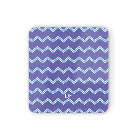 Personalised Chevron 2 Tone Coasters set of 4
