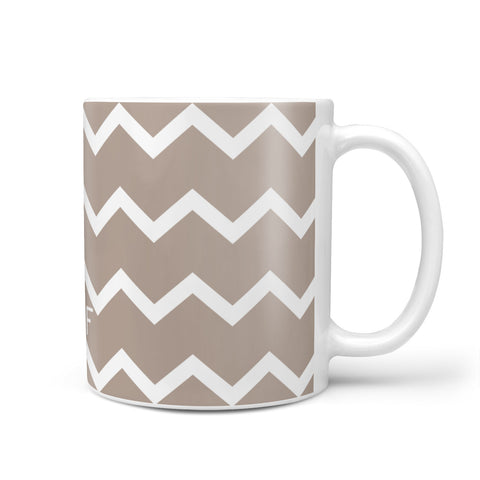 Personalised Chevron Beige Mug