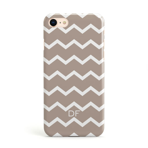 Personalised Chevron Beige Apple iPhone Case