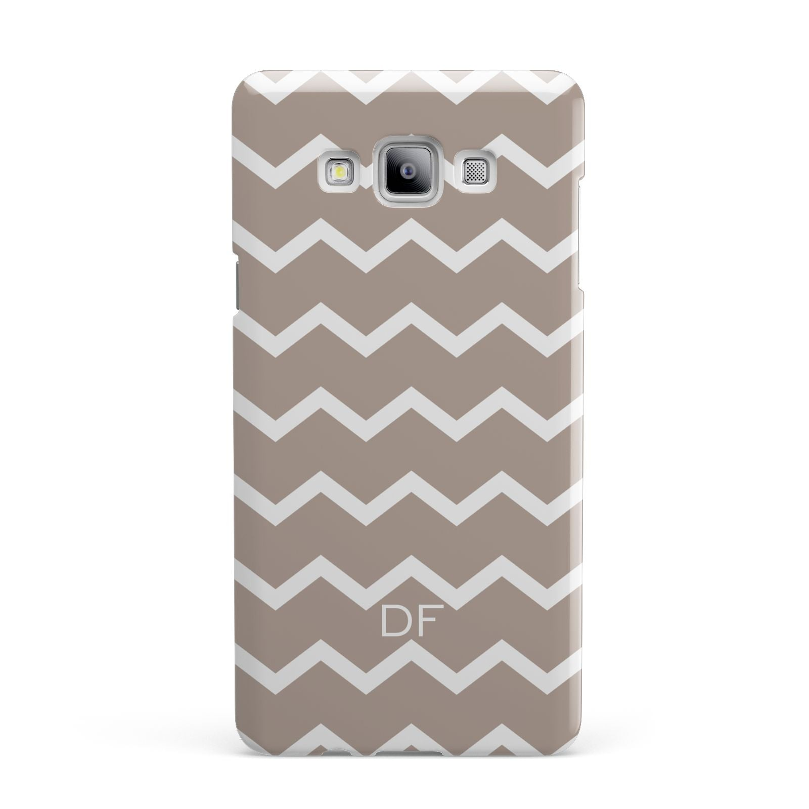 Personalised Chevron Beige Samsung Galaxy A7 2015 Case