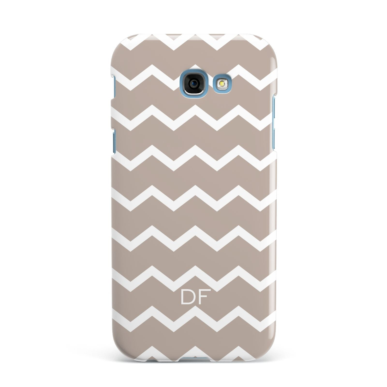 Personalised Chevron Beige Samsung Galaxy A7 2017 Case