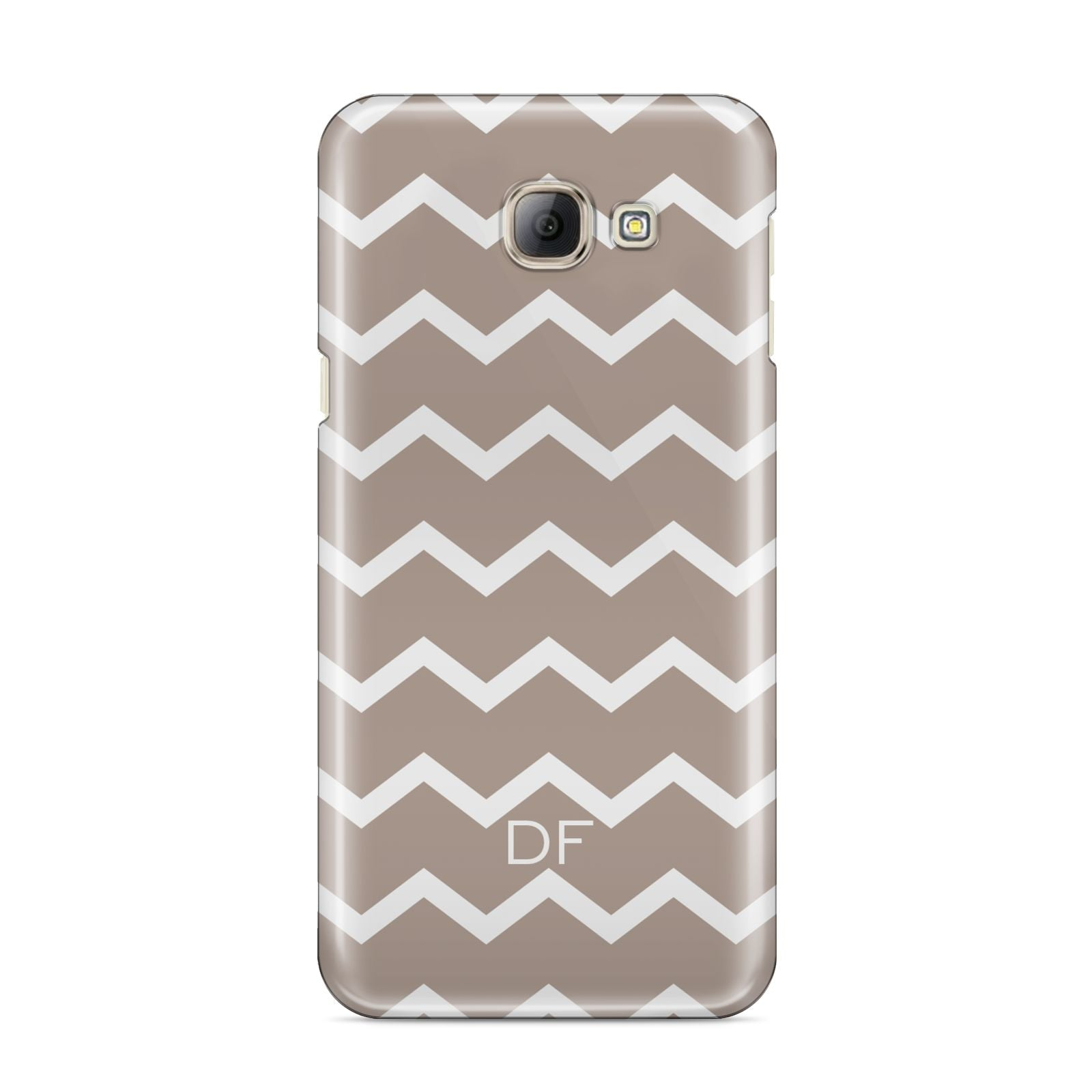 Personalised Chevron Beige Samsung Galaxy A8 2016 Case