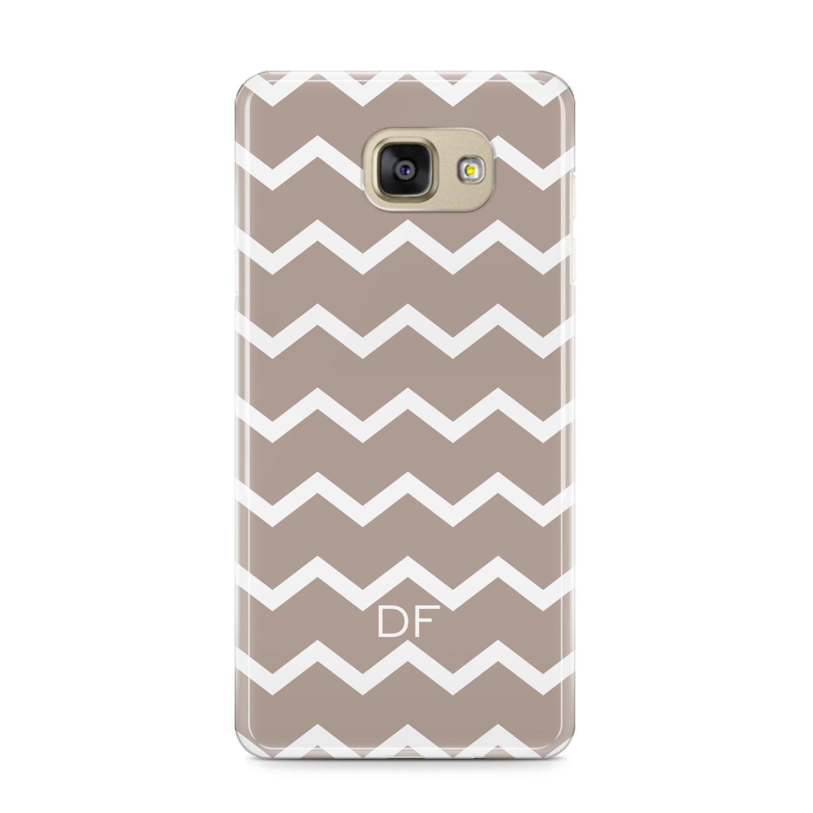 Personalised Chevron Beige Samsung Galaxy A9 2016 Case on gold phone