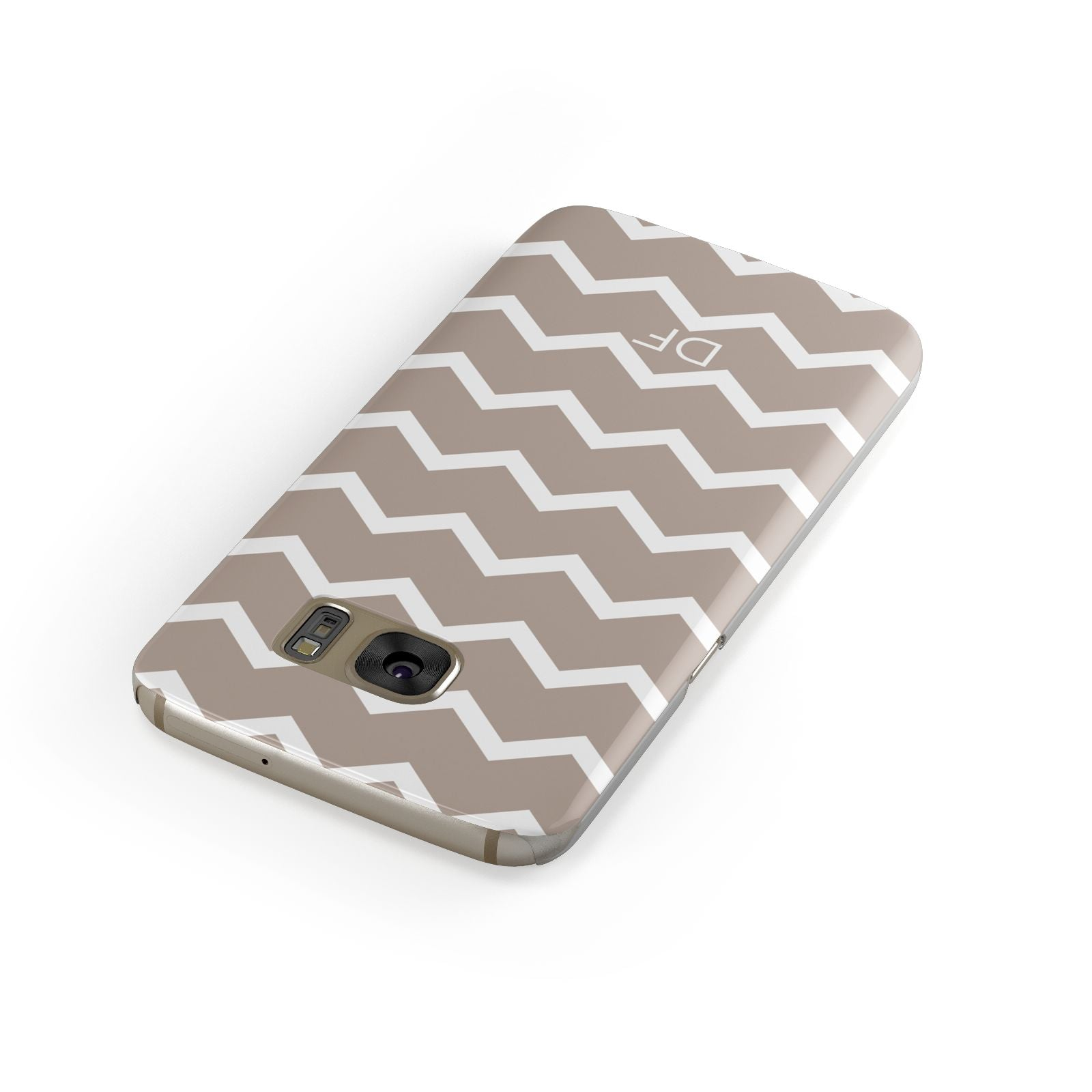 Personalised Chevron Beige Samsung Galaxy Case Front Close Up