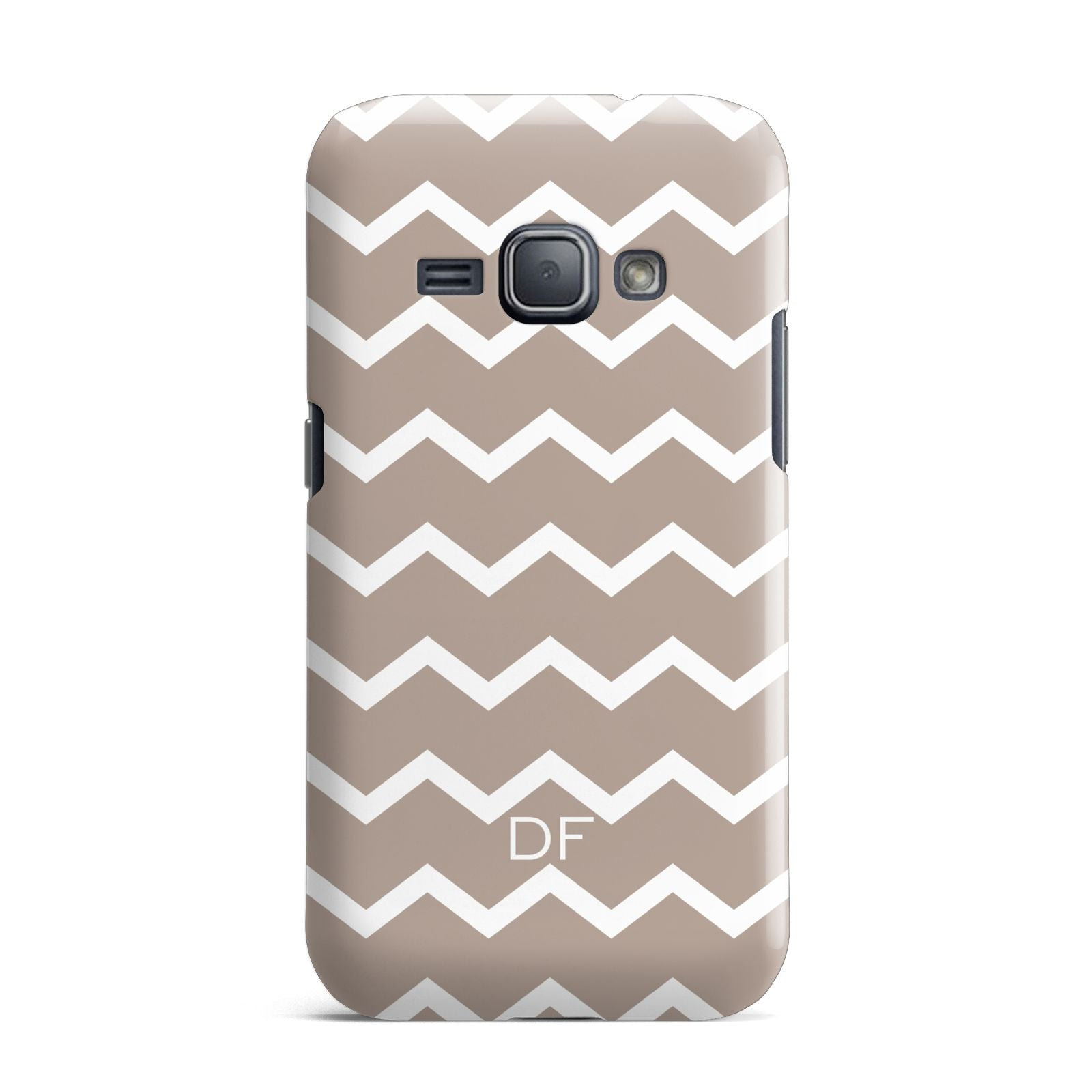 Personalised Chevron Beige Samsung Galaxy J1 2016 Case