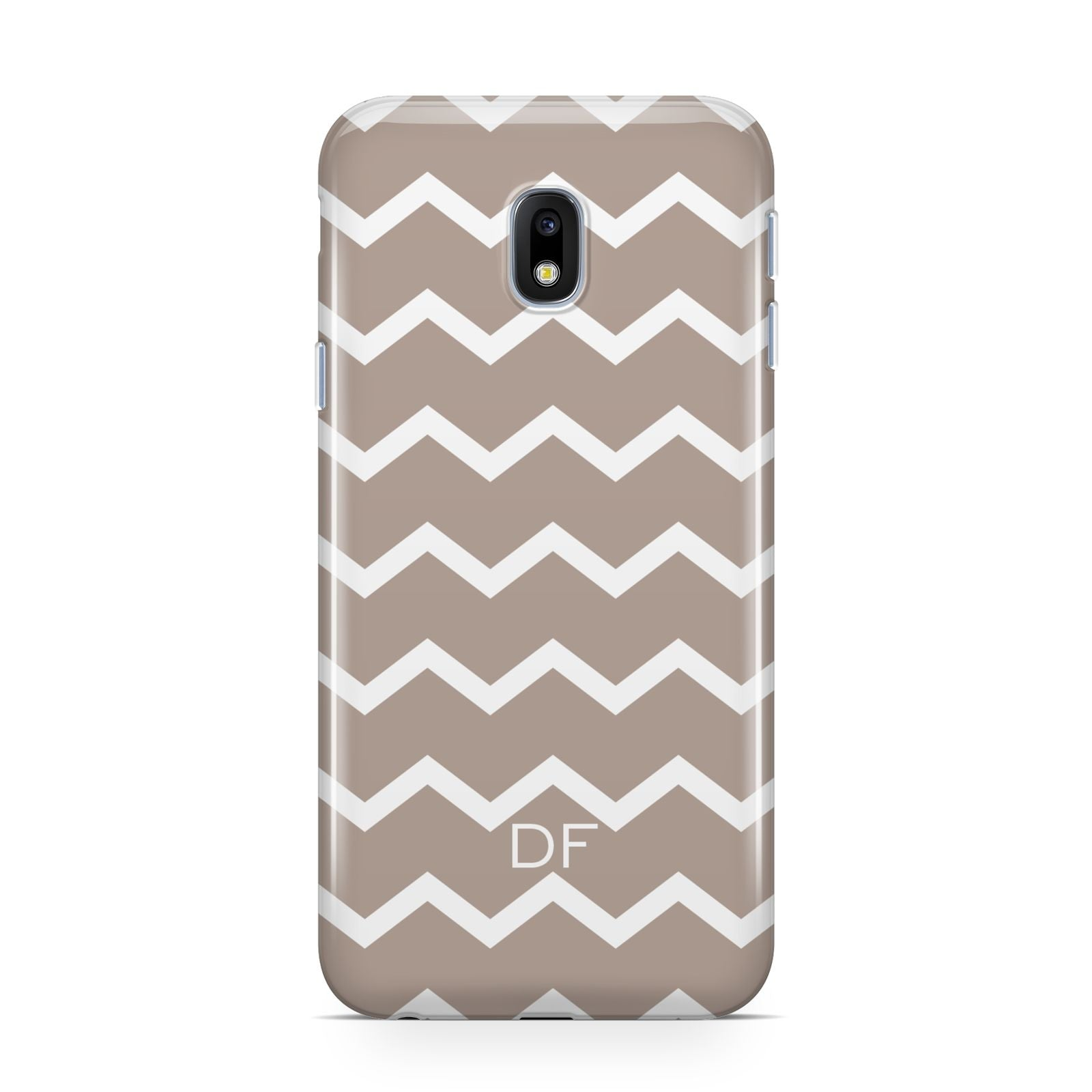 Personalised Chevron Beige Samsung Galaxy J3 2017 Case