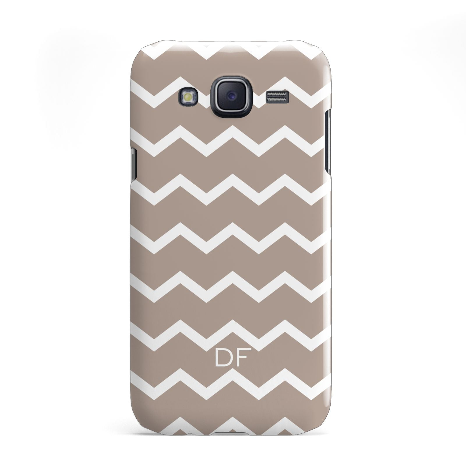 Personalised Chevron Beige Samsung Galaxy J5 Case