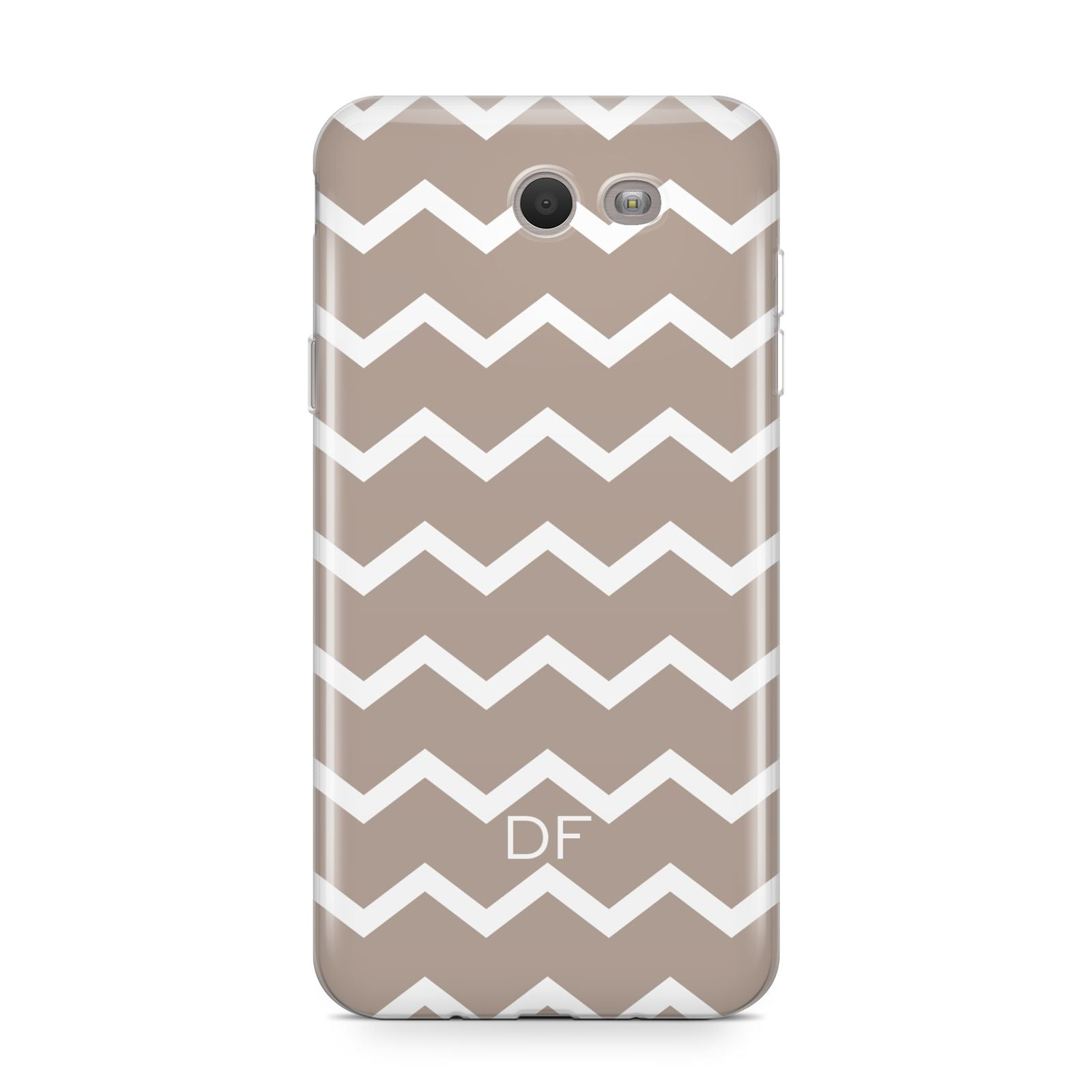 Personalised Chevron Beige Samsung Galaxy J7 2017 Case