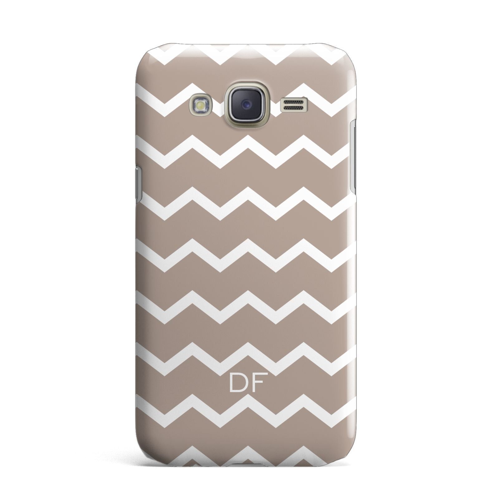 Personalised Chevron Beige Samsung Galaxy J7 Case