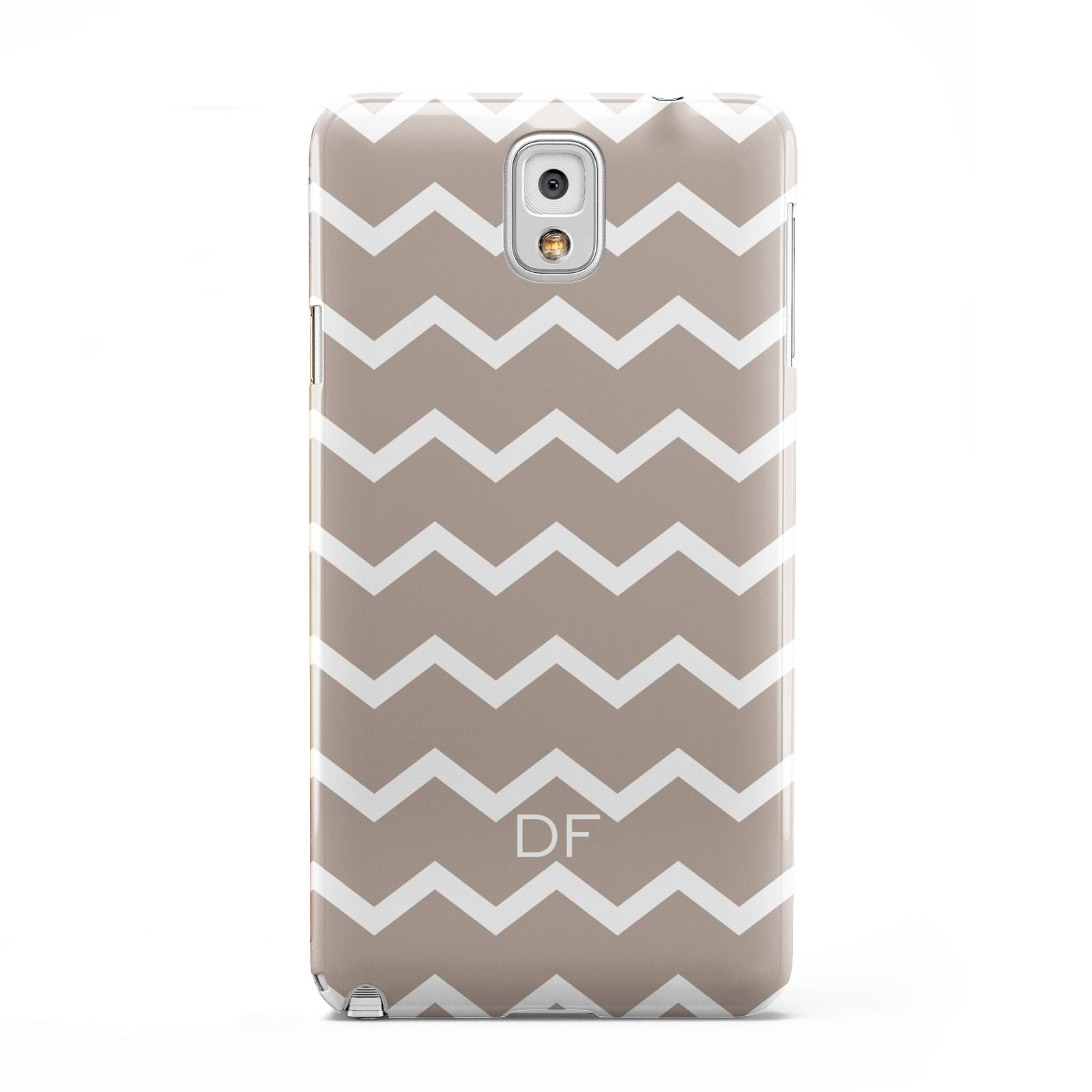 Personalised Chevron Beige Samsung Galaxy Note 3 Case