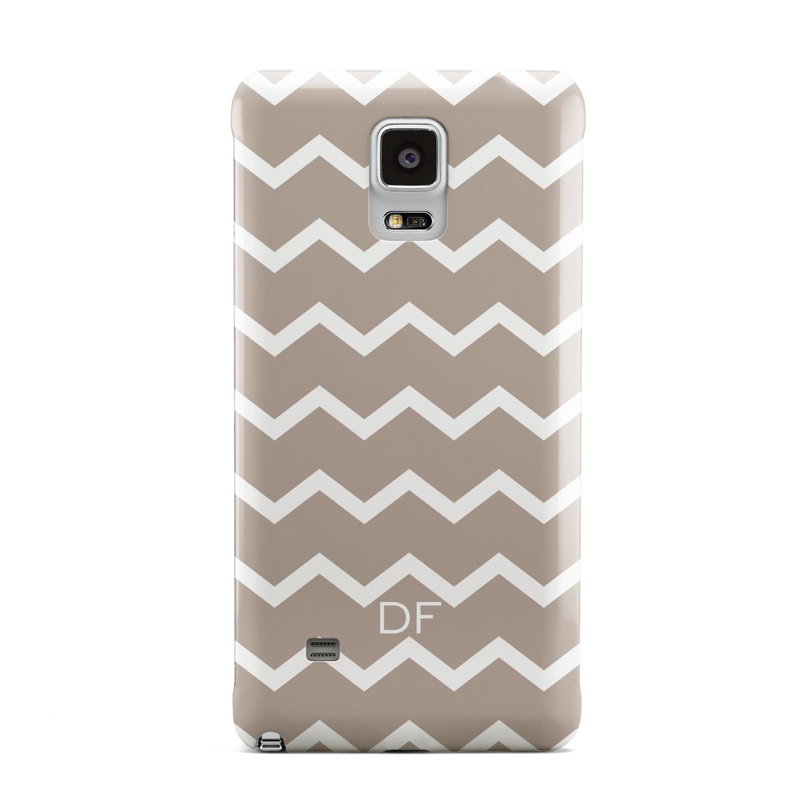Personalised Chevron Beige Samsung Galaxy Note 4 Case